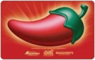 17% off Chili's gift cards.